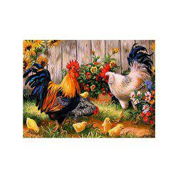 Naiyue S093 Farmhouse Chicken House Print Draw Diamond Drawing -