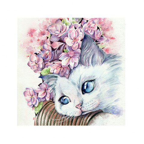 Outfits Naiyue S057 White Cat Print Draw Diamond Drawing