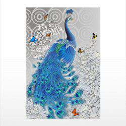 Naiyue S065 Peacock Print Draw Diamond Drawing -