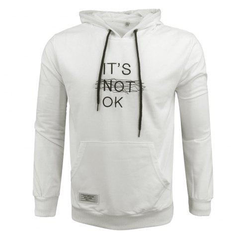 Shops Men 'S Spring and Autumn Fashion Casual Outdoor Sports Hooded Solid Embroidered Long Sleeve Hoodie