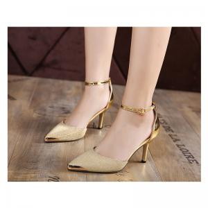 Ladies Rubber Sole Hollow 7CM High Heels -