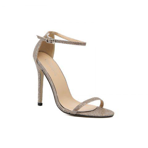 Shop The Rubber Sole of The Lady Has A High Heel and Sandals