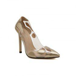 Ladies Rubber Sole Sexy Transparent Mouth High Heel Shoes -