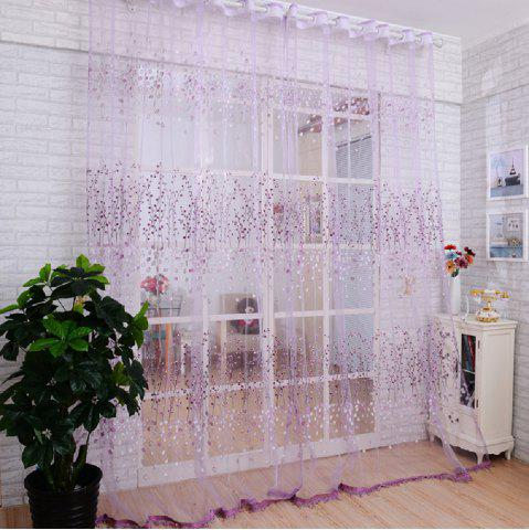 Fashion Offset Screen Purple Bloom Curtain