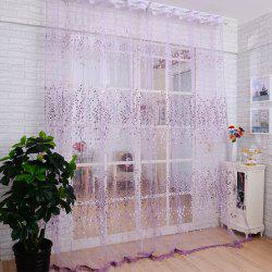 Offset Screen Purple Bloom Curtain -