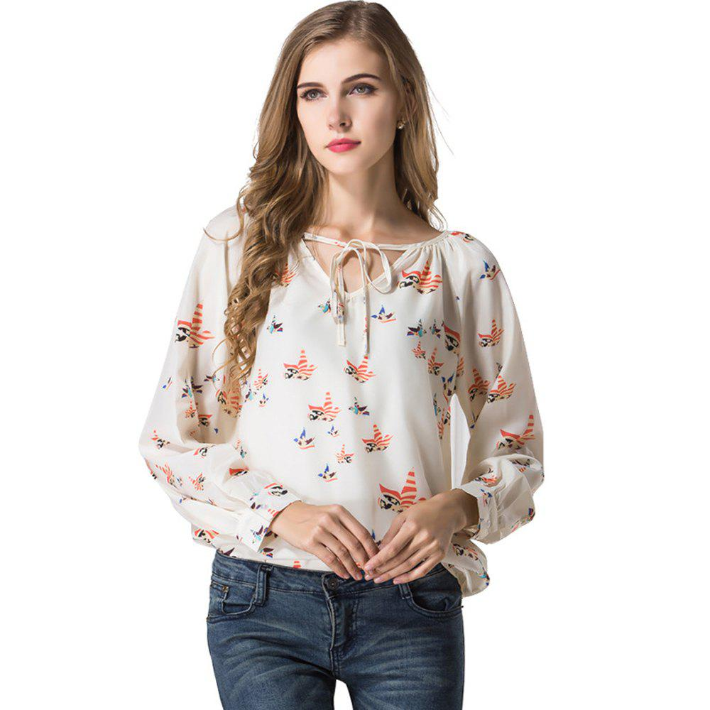 2019 Blouse Women Shirt Top Long Sleeve Women Chiffon Blouse Shirt