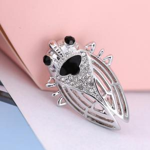 nsect Brooches For Lady Girl Kids Accessories Silver-color Brooch Jewelry Suit Collar Pins Clip -