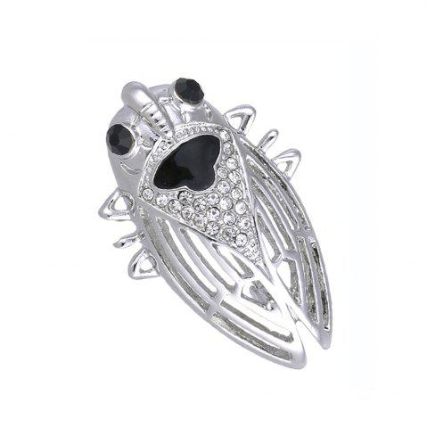 Affordable nsect Brooches For Lady Girl Kids Accessories Silver-color Brooch Jewelry Suit Collar Pins Clip