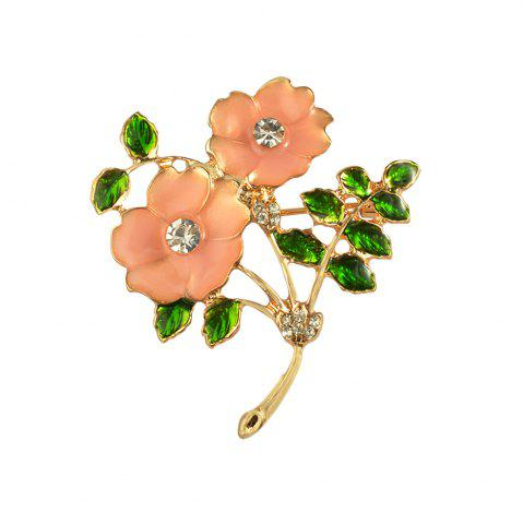 Cheap Silver Alloy Rhinestone Plum Flower plant Brooch Pins