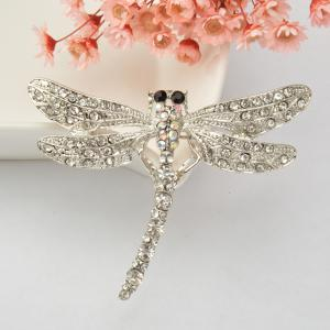 Dragonfly Brooch Pin Enamel Crystal Lovely Jewelry For Women Gift Brooches -