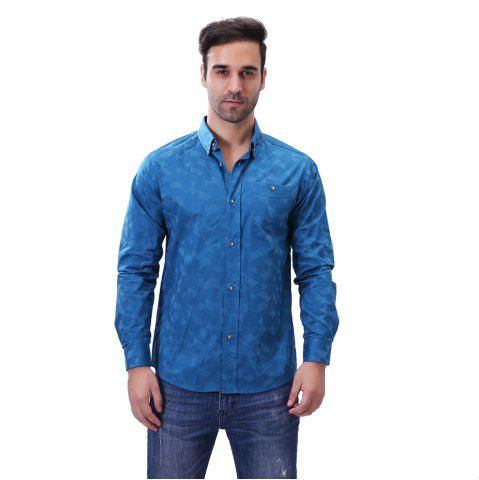 Fashion Dark Plaid Shirt for Men