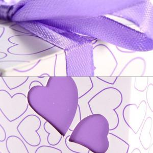 Novelty Double Hollow Love Heart Design Wedding Favor Candy Boxes Gift Boxes with Ribbons   50 pcs -