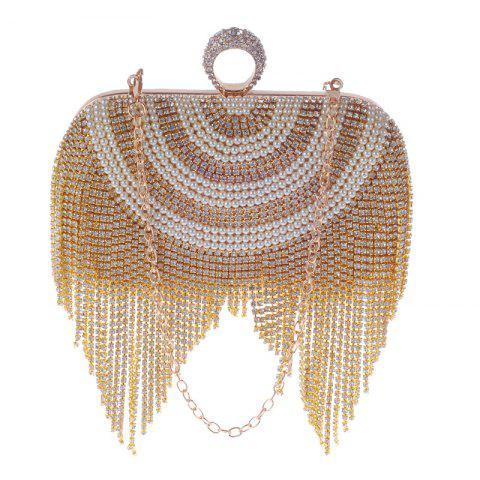Affordable New Diamond-studded Tassel Pearl Dinner Bag