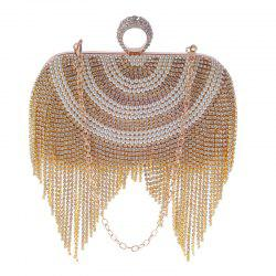 New Diamond-studded Tassel Pearl Dinner Bag -