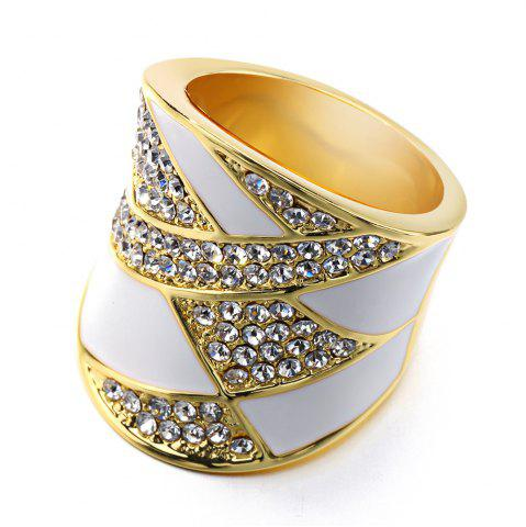 Fashion American Fashion 18k  Gold Plated Crystar Enamel Luxury Ring