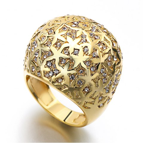 Chic Plated Gold Crystal  Luxury Fashion Rings