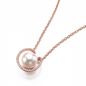 925 Silver Gold Plated Shell Pearl Fashion Necklaces -