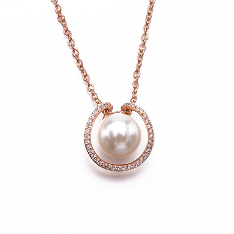 Cheap 925 Silver Gold Plated Shell Pearl Fashion Necklaces