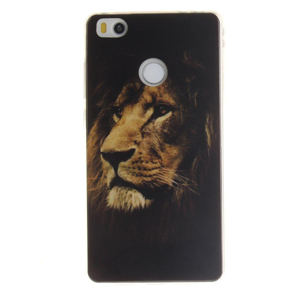 Cheap The Lion Pattern  Soft Clear IMD TPU Phone Casing Mobile Smartphone Cover Shell Case for Xiaomi Mi4S