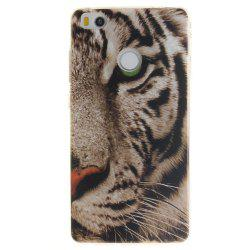 The Tiger Pattern oft Clear IMD TPU Phone Casing Mobile Smartphone Cover Shell Case for Xiaomi Mi4S -