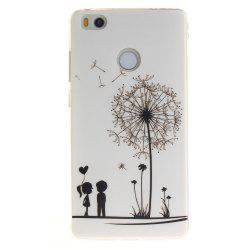 Dandelion Soft Clear IMD TPU Phone Casing Mobile Smartphone Cover Shell Case for Xiaomi Mi4S -