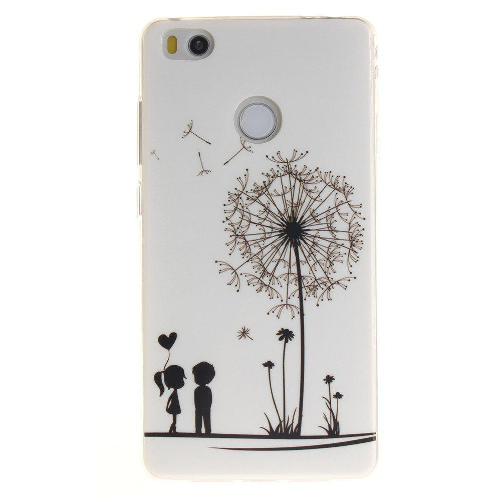 Online Dandelion Soft Clear IMD TPU Phone Casing Mobile Smartphone Cover Shell Case for Xiaomi Mi4S