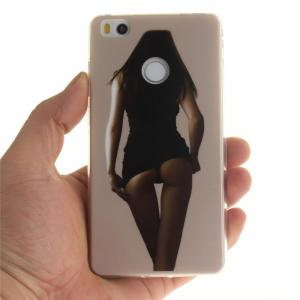 Sexy Girl Soft Clear IMD TPU Phone Casing Mobile Smartphone Cover Shell Case for Xiaomi Mi4S -