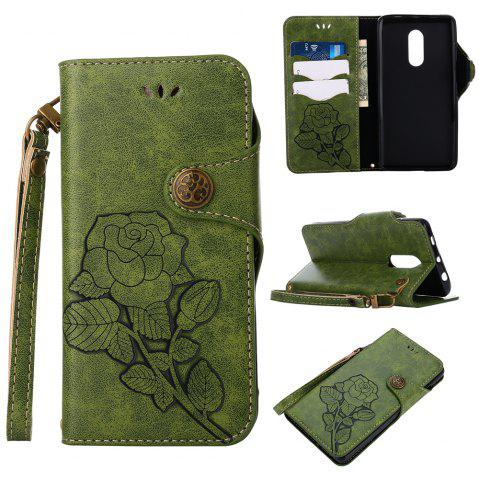 Trendy Retro PU Leather Magnetic Closure Flip Wallet Protective Case with Lanyard for Xiaomi Redmi Note 4 / 4X