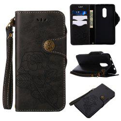 Retro PU Leather Magnetic Closure Flip Wallet Protective Case with Lanyard for Xiaomi Redmi Note 4 / 4X -