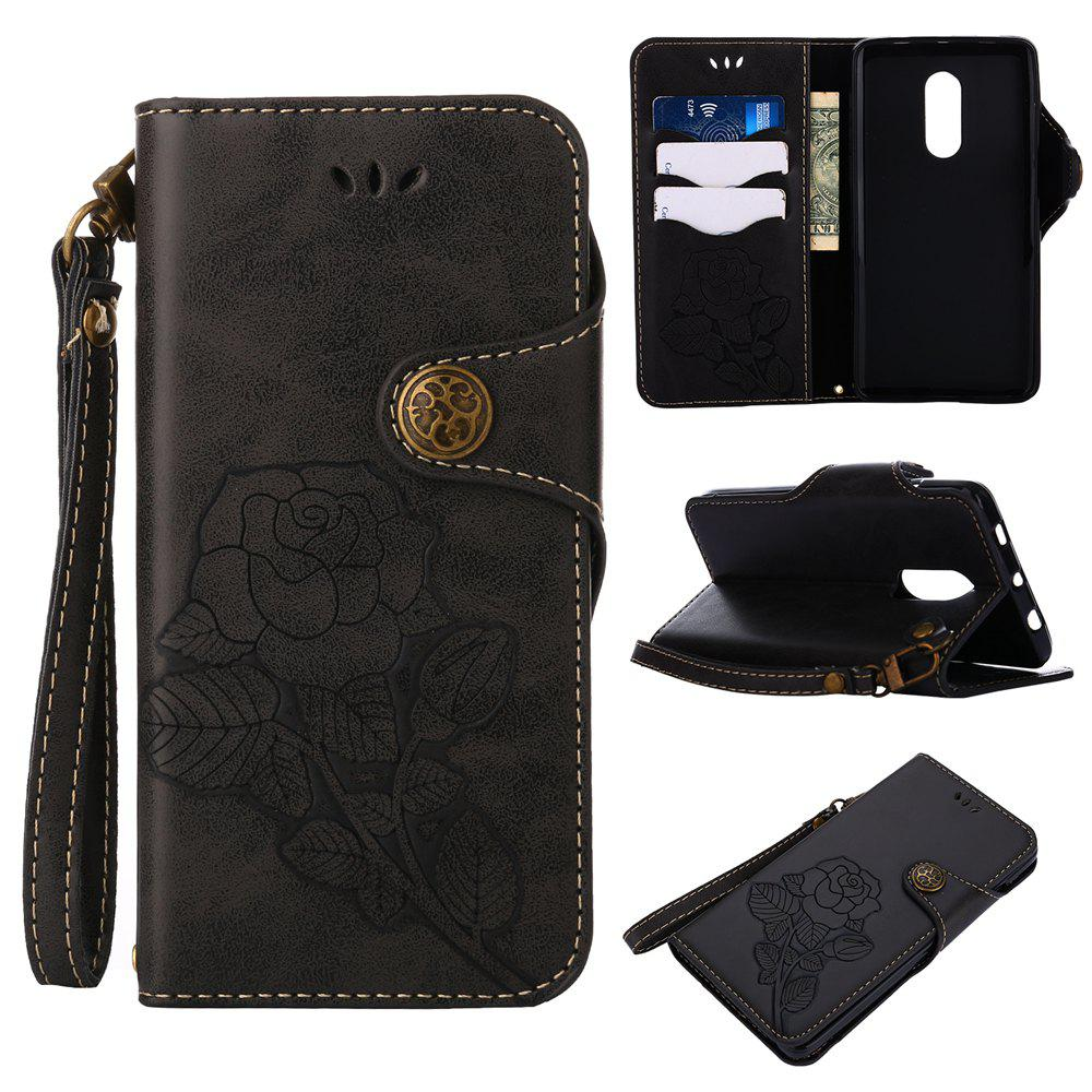 New Retro PU Leather Magnetic Closure Flip Wallet Protective Case with Lanyard for Xiaomi Redmi Note 4 / 4X