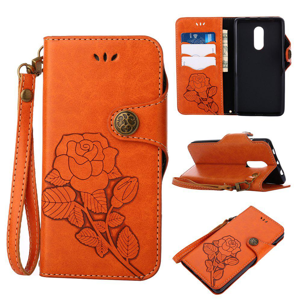 Discount Retro PU Leather Magnetic Closure Flip Wallet Protective Case with Lanyard for Xiaomi Redmi Note 4 / 4X