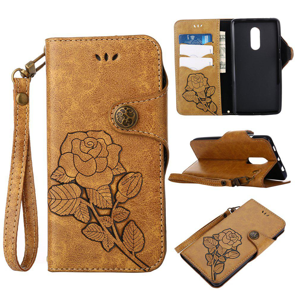 Chic Retro PU Leather Magnetic Closure Flip Wallet Protective Case with Lanyard for Xiaomi Redmi Note 4 / 4X