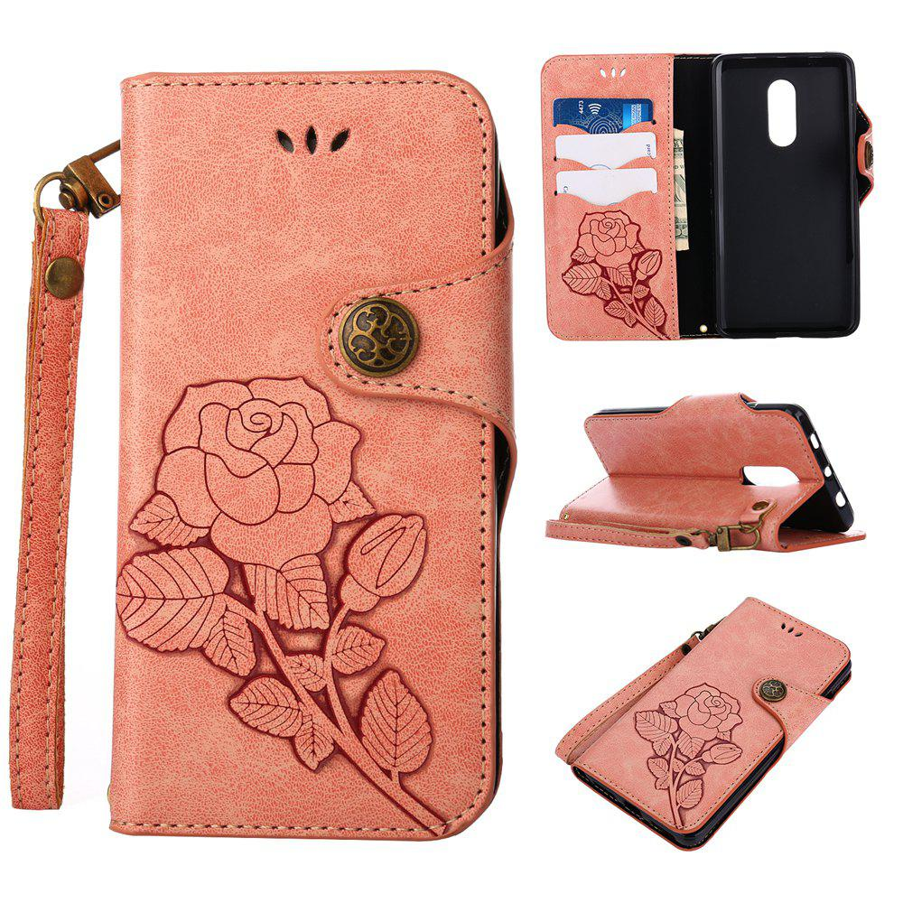 Buy Retro Rose PU Leather Magnetic Closure Flip Wallet Protective Case with Lanyard for Xiaomi Redmi Note 4 / 4X