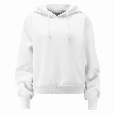 Chic Women's Fashion Large Size Loose Long-Sleeved Plus Cashmere Hoodies