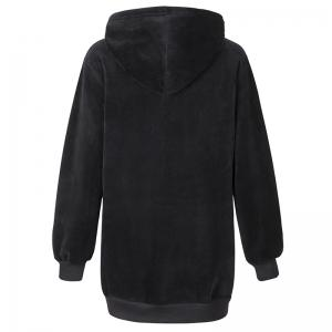 Women's Casual Fashion Letters Embroidered Long-Sleeved Hooded Sweatshirt -