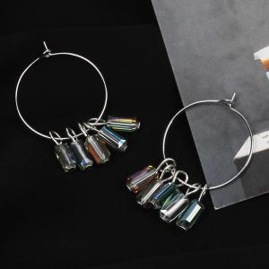 Crystal Large Ring Earrings Ethnic Circle Accessories -