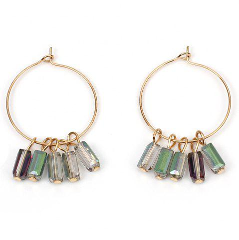 Fashion Crystal Large Ring Earrings Ethnic Circle Accessories