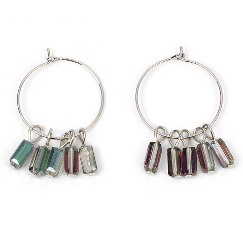 Buy Crystal Large Ring Earrings Ethnic Circle Accessories
