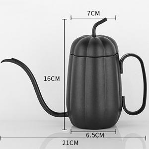 Hand Drip Pumpkin Kettle Pour Over Coffee and Tea Pot Premium Stainless Steel with Copper Coating 450ml Copper -