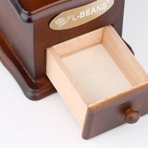 Manual Coffee Bean Grinder Hand Grinding Vintage Solid Wood Adjust Beans Machine Makers -