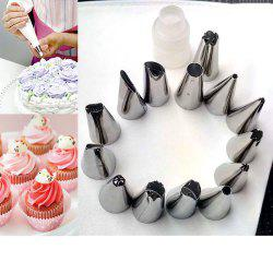 16 Piece Deluxe Cake Decorating Set  Decoration Tips -