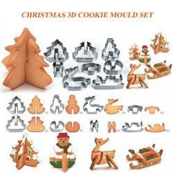 Creative 3D Christmas Biscuit Mold Stainless Steel Cookie Cutter Sugar Cake Mold Fondant Cake Decoration Tools DIY Bakin -