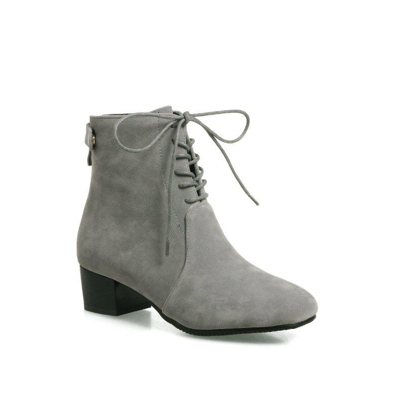 Buy Low-Heeled Rough Retro Frosted Boots