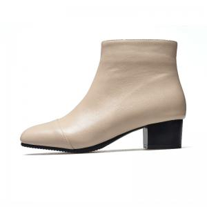 Low-Heeled Rough Retro Wild Bare Boots -