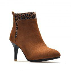 High-Heeled Fashion Leopard Bare Boots -