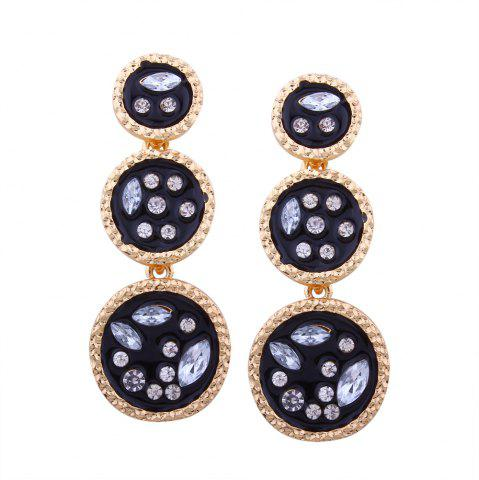 Unique Geometric Elements Alloy Circular Irregularity Rhinestone Earrings