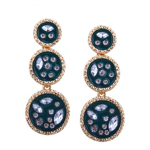 Best Geometric Elements Alloy Circular Irregularity Rhinestone Earrings