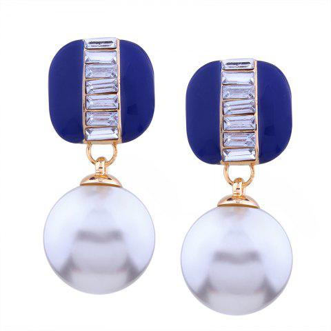 Outfits Geometric Element  Rhinestone Pearl Alloy Earrings