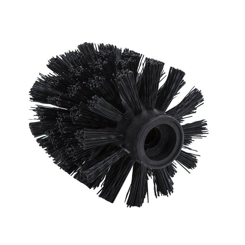 Fancy Plastic Bathroom Replacement Toilet Brush head WC Cleaning Accessory Bathroom Cleaning Black