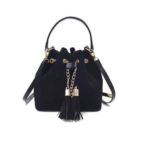 Discount New Handbag Crossbody Drawstring Simple Tassel Bucket Bag